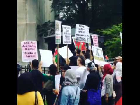 US-NYC: Pro-Palestinian Protesters Disrupt Pro-Israel Rally at New York City Hall