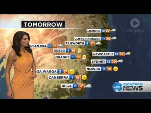 Amanda Duval Ten 5pm Sydney News - Weather 6th May 2014