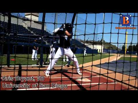 KRIS BRYANT PROSPECT VIDEO, 3B, UNIVERSITY OF SAN DIEGO