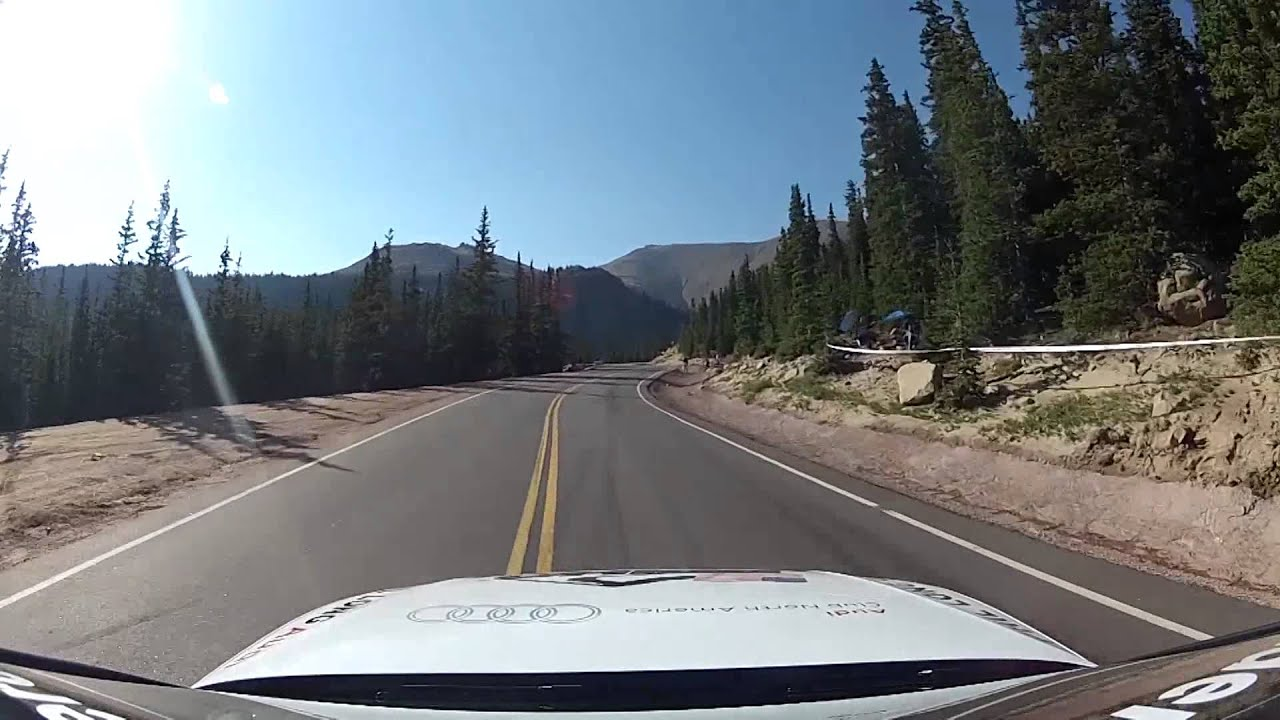 2012 Ppihc Audi S5 Arp Stasis Pace Car Ascends Pikes Peak