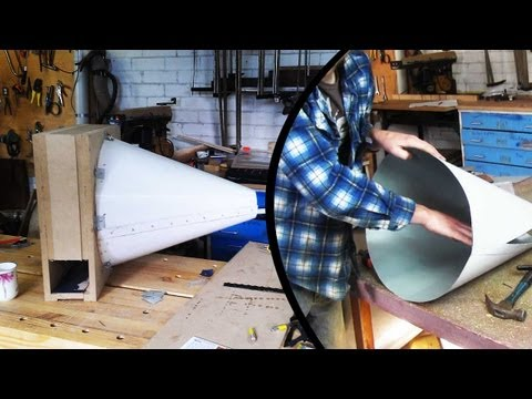 Make a Cyclone dust separator - The cone (part 2 of 3) (home made cyclone)