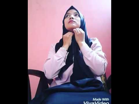 Tutorial hijab tanpa daleman kerudung (ciput)