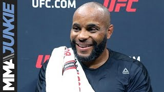 Daniel Cormier media scrum after UFC 241 open workout