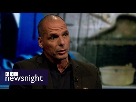 """Yanis Varoufakis: """"Greece is a mouse being squashed""""  - BBC Newsnight"""