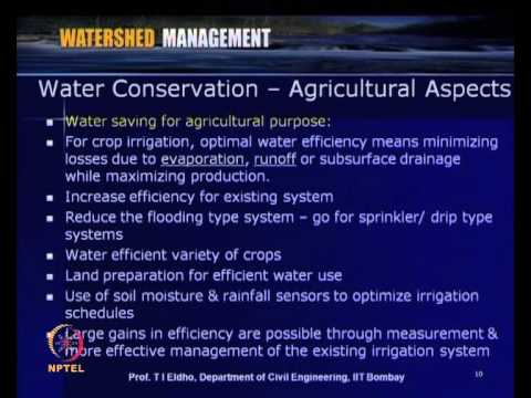 Mod-10 Lec-38 Water Conservation