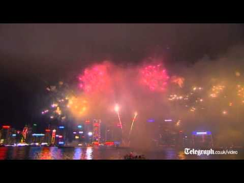 Hong Kong welcomes the Year of the Dragon with a Chinese New Year fireworks
