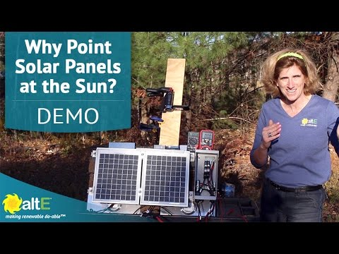 Why do I have to point my solar panels at the sun?