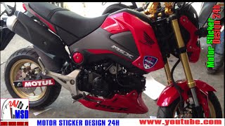 Honda msx 2015 | red color honda msx 125