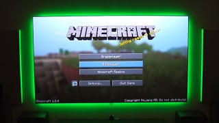 "Minecraft | Playing on a 115"" screen"