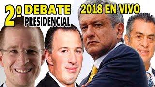 Transmisón del Segundo Debate Presidencial en Vivo