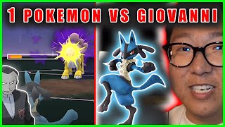 I DEFEATED GIOVANNI WITH ONLY 1 POKEMON - Pokemon GO Challenge