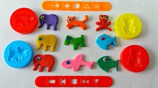 Learn Colors with 7 Color Play Doh and Wild Animals Molds | Nursery Rhyme & Kids Songs
