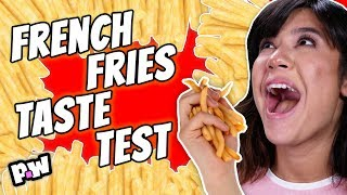 French Fries Challenge! Taste test of best fast food french fries! 🍟