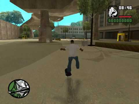gta sa skateboard video 2