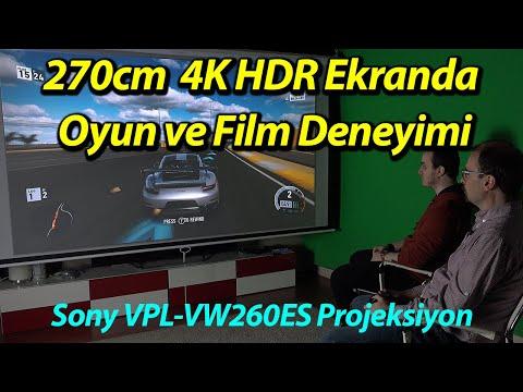 30000TL'lik 4K HDR Projeksiyon ile oyun oynadık! Sony VPL-VW260ES Projeksiyon inceleme videosu