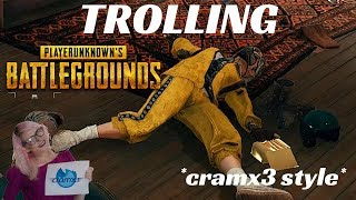 Trolling Compilation, Funny Voice Chat, and Hilarious Kills! Volume 10 PUBG *cramx3 style*