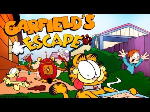 Побег Гарфилда Garfield's Escape - Сбегаем от Моющей Машины! Детское видео Игровой Мультик