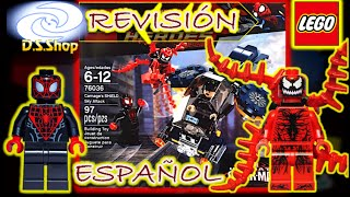 LEGO Spiderman Carnage Shield Sky Attack Set 76036 Review en Español