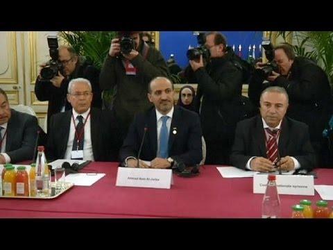 'Friends of Syria' meet opposition leader in Paris
