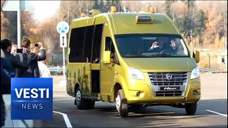 Meet Eva the Self-Driving Bus: Auto-Vehicles Go Through Final Harsh Winter Conditions Test