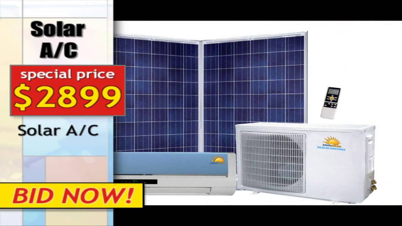 off grid solar air conditioning youtube