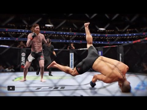 EA Sports UFC 2 Funny/Brutal Knockouts (No Commentary)