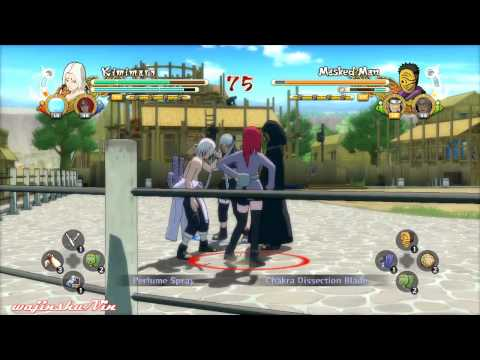 Naruto Ultimate Ninja Storm 3 Kimimaro vs Masked Man Gameplay