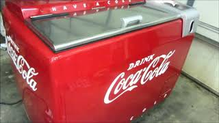 Vintage Water-Bath Coca-Cola Cooler. Cavalier Frigidaire Meter-Miser - 4 - Project completion...