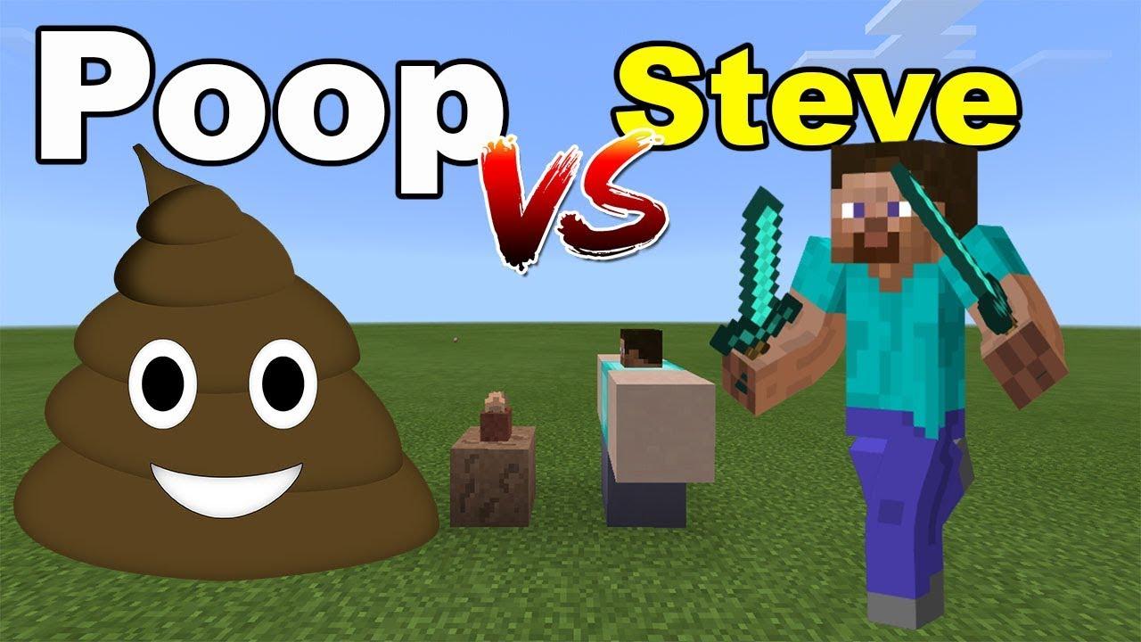 POOP vs STEVE | Minecraft PE