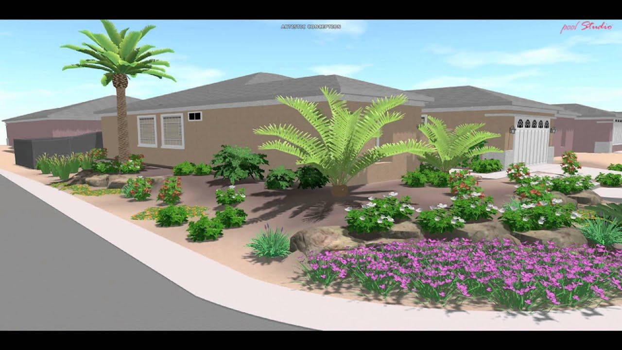 3d Landscape Design Las Vegas Youtube