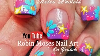Spring Flower Nails! | Easy DIY Daisy Heart and Stars Nail Art Design Tutorial