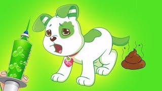 Mi Perrito Esta Enfermo! - Niños Aprenden a Cuidar de los Animales- Dibujos para Peques