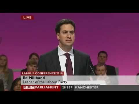 Ed Miliband Mention Gaza Freedom Flotilla at Labour Conference