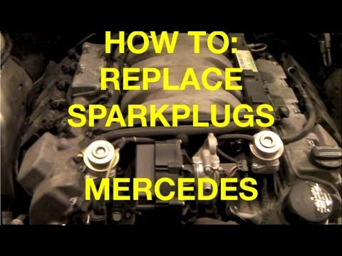 How to replace spark plugs and wires on a 1999 - 2005 Mercedes S500 or