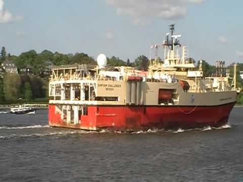 Ramford Challenger seismic and diving vessel in Hamburg