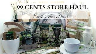 99 Cents Store Haul! ~ EARTH TONE Home Decor & DIY Supplies!