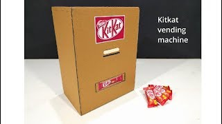 How to make KITKAT Vending Machine At home with cardboard VERY easy DIY