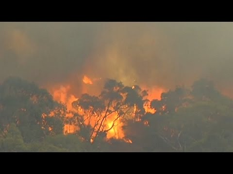 Wild fires blaze out of control in Australia