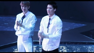 [fancam] 170211 EXO One and only Sehun laughed during the performance @ EXO