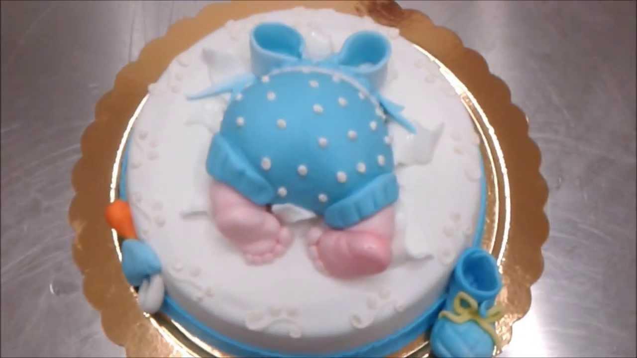 Torta Per Battesimo Arcobaleno Di Sapori Youtube