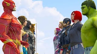 Download Song JUSTICE LEAGUE vs THE AVENGERS (GTA V Superhero Extreme Contest) Free StafaMp3