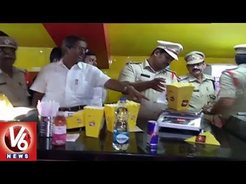 TS Legal Metrology Department Raids On Multiplex And Theatres In Hyderabad | V6 News
