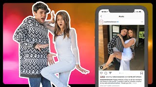 Recreating Famous INSTAGRAM COUPLES Photos Challenge **GONE WRONG** 💕| Sophie Fergi Piper Rockelle