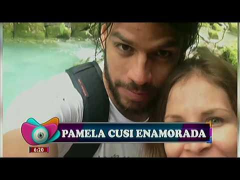 Pamela Cusi, muy enamorada
