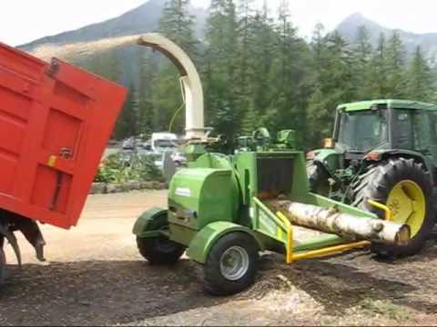 Wood chipper Pezzolato PTH 400 with logs
