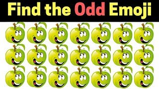 Find The Odd Emoji Out   Spot The Difference Emoji Vol#6   Emoji Puzzle Quiz   Find the difference