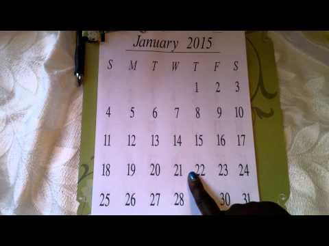 Homemade 2015 wall calendar