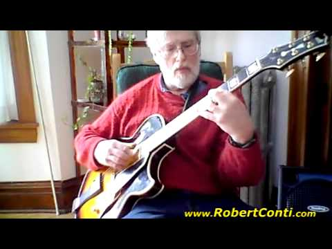 Mike Irish On His Conti Archtop Jazz Guitar