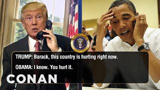 Trump Calls Obama To Talk About Charlottesville & Twitter  - CONAN on TBS