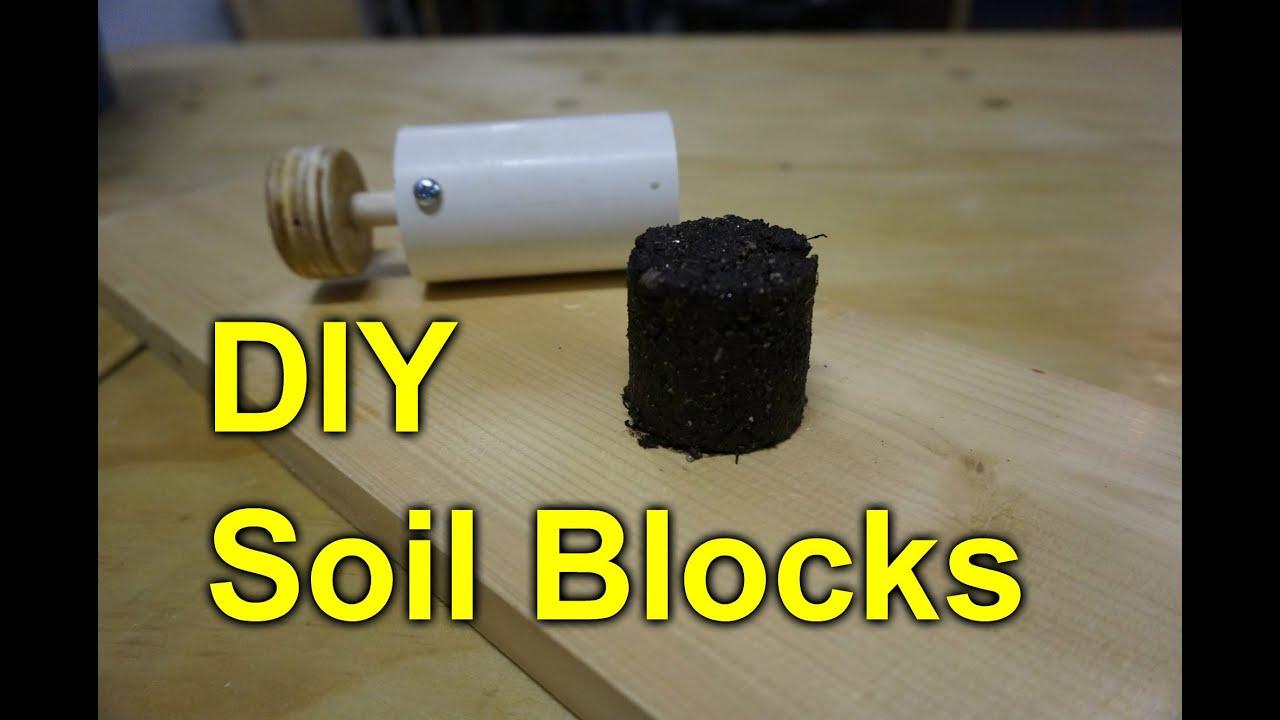 Diy soil block seed pot maker youtube for Soil block maker